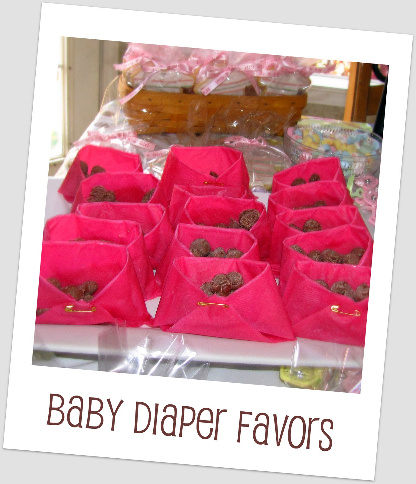baby shower um 17 years ago a lady brought these baby diaper favors