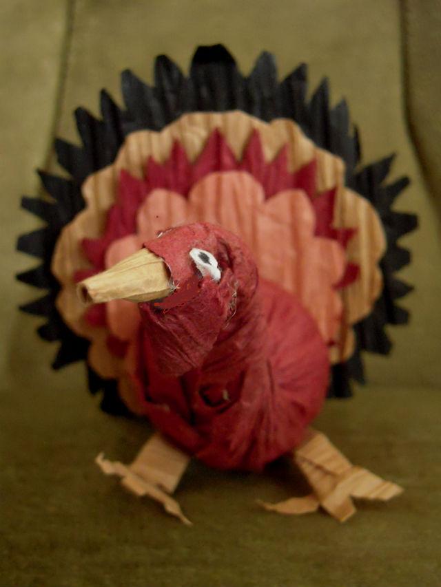 Marvelously Messy Paper Twist Turkey Craft