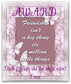 Award från underbara Tina