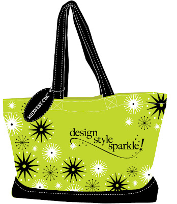 Design. Style. Sparkle! tote bag from Midwest CBK