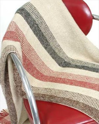 Textillery Weavers handwoven bamboo throw BSS CAS