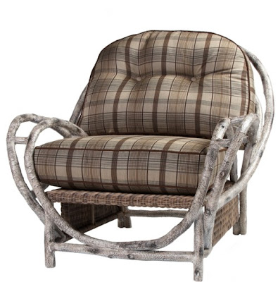 Whitecraft introduce new outdoor furniture at the Casual Show premarket in Chicago. This chair is from the Woolrich River Run collection.