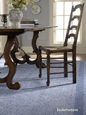 The Basketweave braided rug is inspired by the Colonial Williamsburg archives of the 18th century.  Made in the USA, this rug features a traditional, warm palette in chenille with inset borders. Capel Rug Company, giftandhometoday.blogspot.com