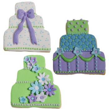 medium blue fondant light blue fondant purple royal icing green royal icing