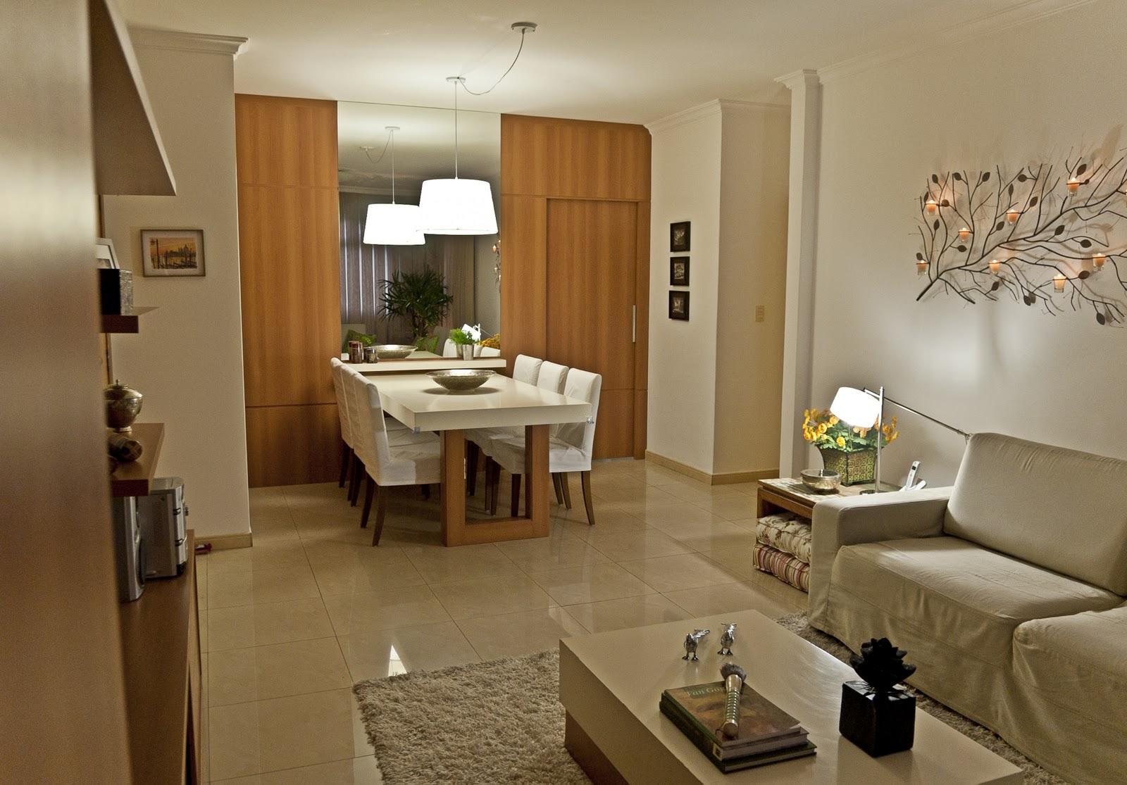 Sala De Estar Integrada Com Jantar ~  de Mulherzinha Decor  Sala de jantar integrada com sala de estar