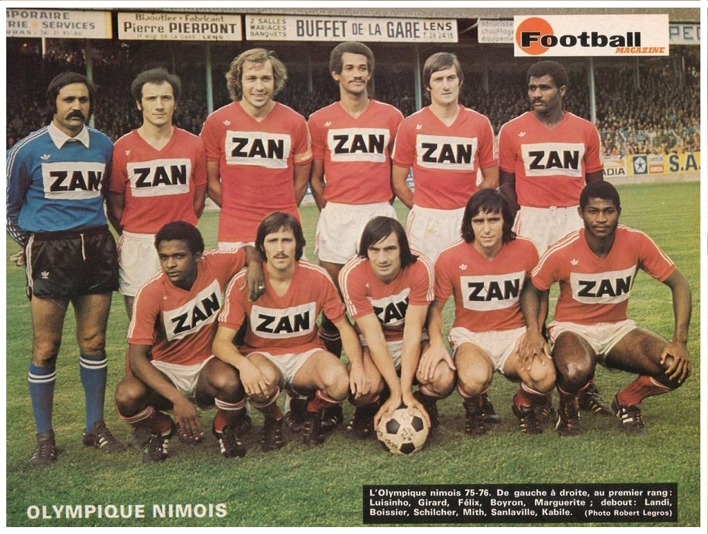 L'HISTOIRE DU NO  Nimes+1975-76