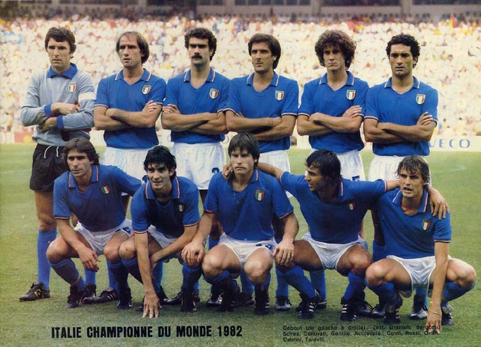 Old school panini hommage enzo bearzot - Equipe de france 1982 coupe du monde ...