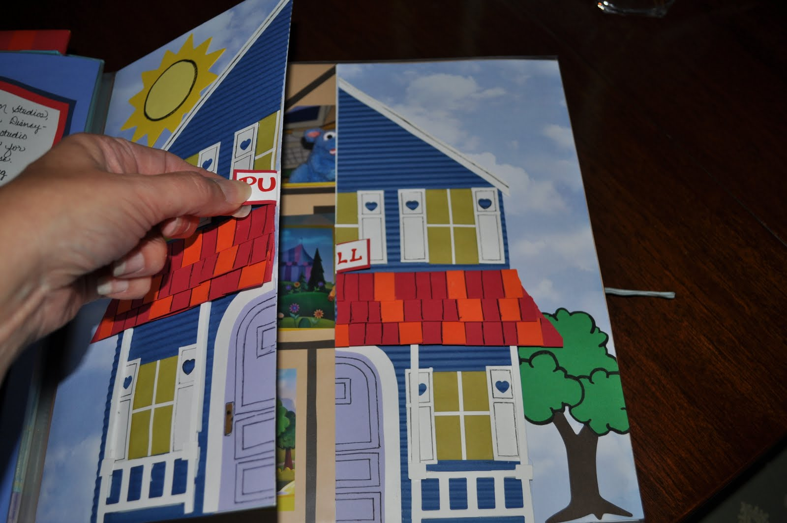 my four hearts bear in the big blue house scrapbook page