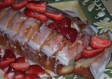 Lemon Cake & Sugared Strawberries