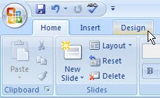PowerPoint 2007 Design tab