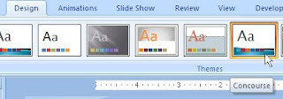 PowerPoint 2007 Concourse theme