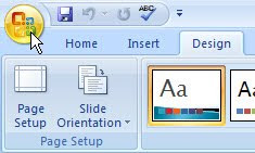 PowerPoint 2007 Microsoft Office Button