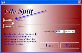 HJ Split dialog box