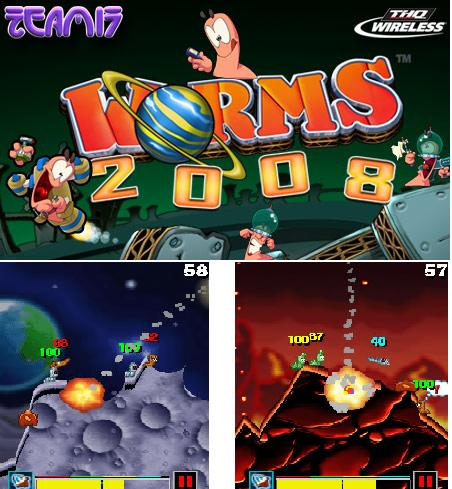 phone game worm 2008 touch screen game mobile nokia lg samsung free