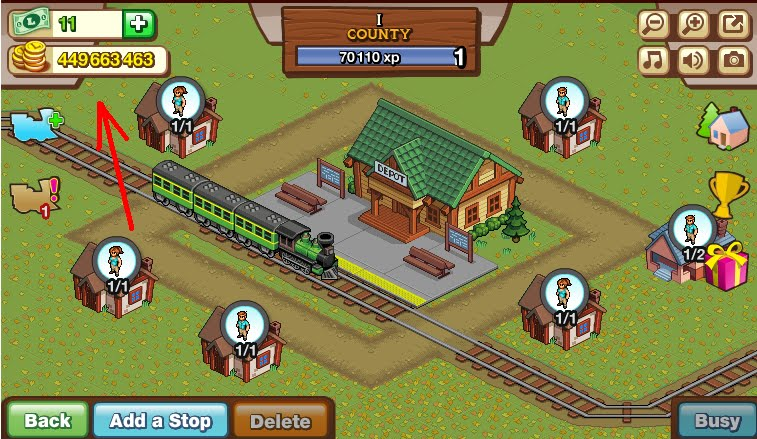 1st step in Lucky Train Cheats Super Money