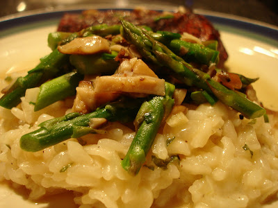 Mary Ellen's Cooking Creations: Risotto with Asparagus-Shiitake Ragout