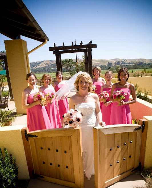 Bridal Party at Garden Entrance