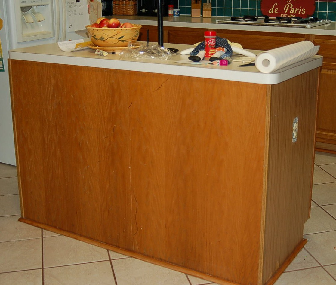 of five kitchen island makeover