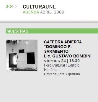 "CATEDRA ABIERTA ""DOMINGO F. SARMIENTO"""