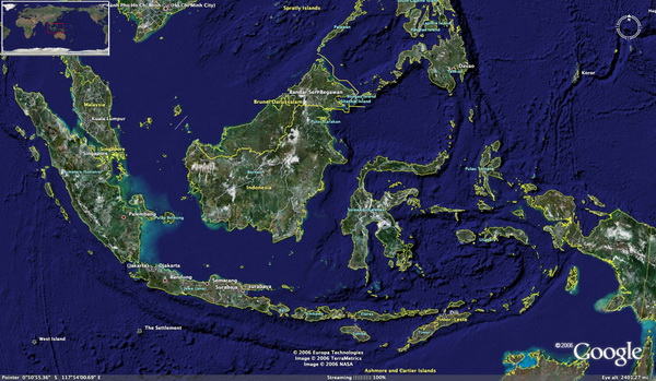 map of indonesian islands. pictures Map of Indonesian