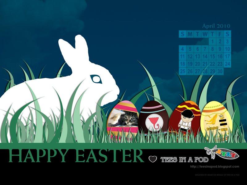 FREE April/Easter Desktop Background