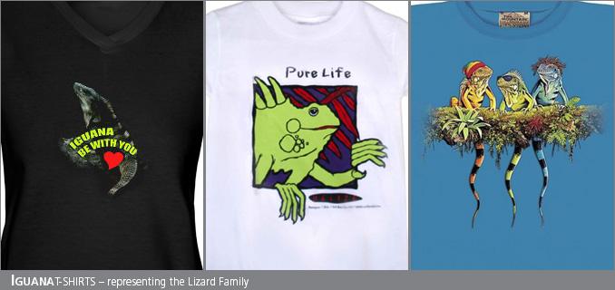 Iguana/lizard t-shirts