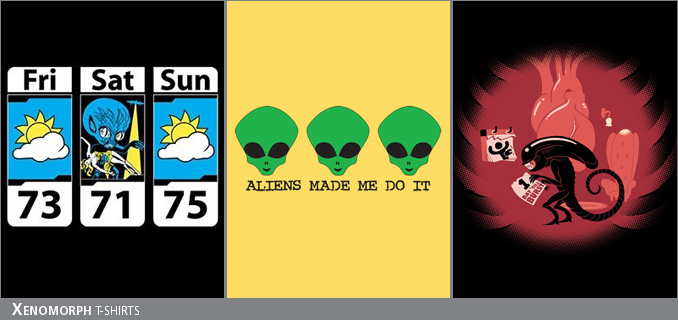 Xenomorph/Alien t-shirts