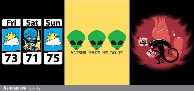 Xenomorph/Alien t-shirts
