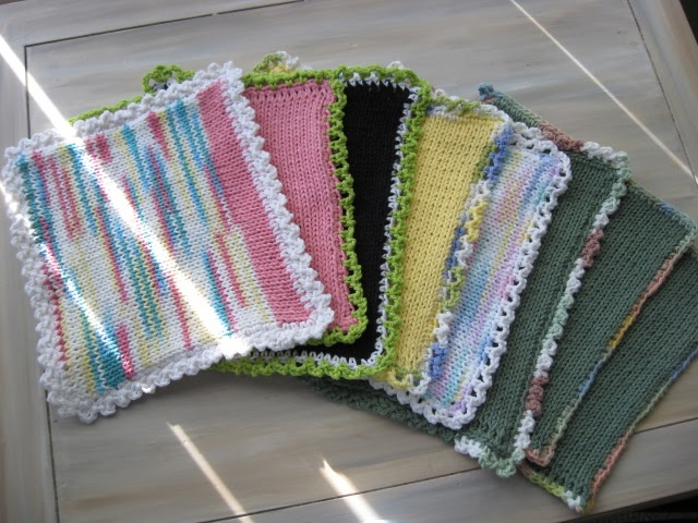 Magic Pixie Knitter Machine Knit Dishcloth Pattern