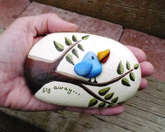 Rock painting ideas cake ideas and designs - River rock painting ideas ...