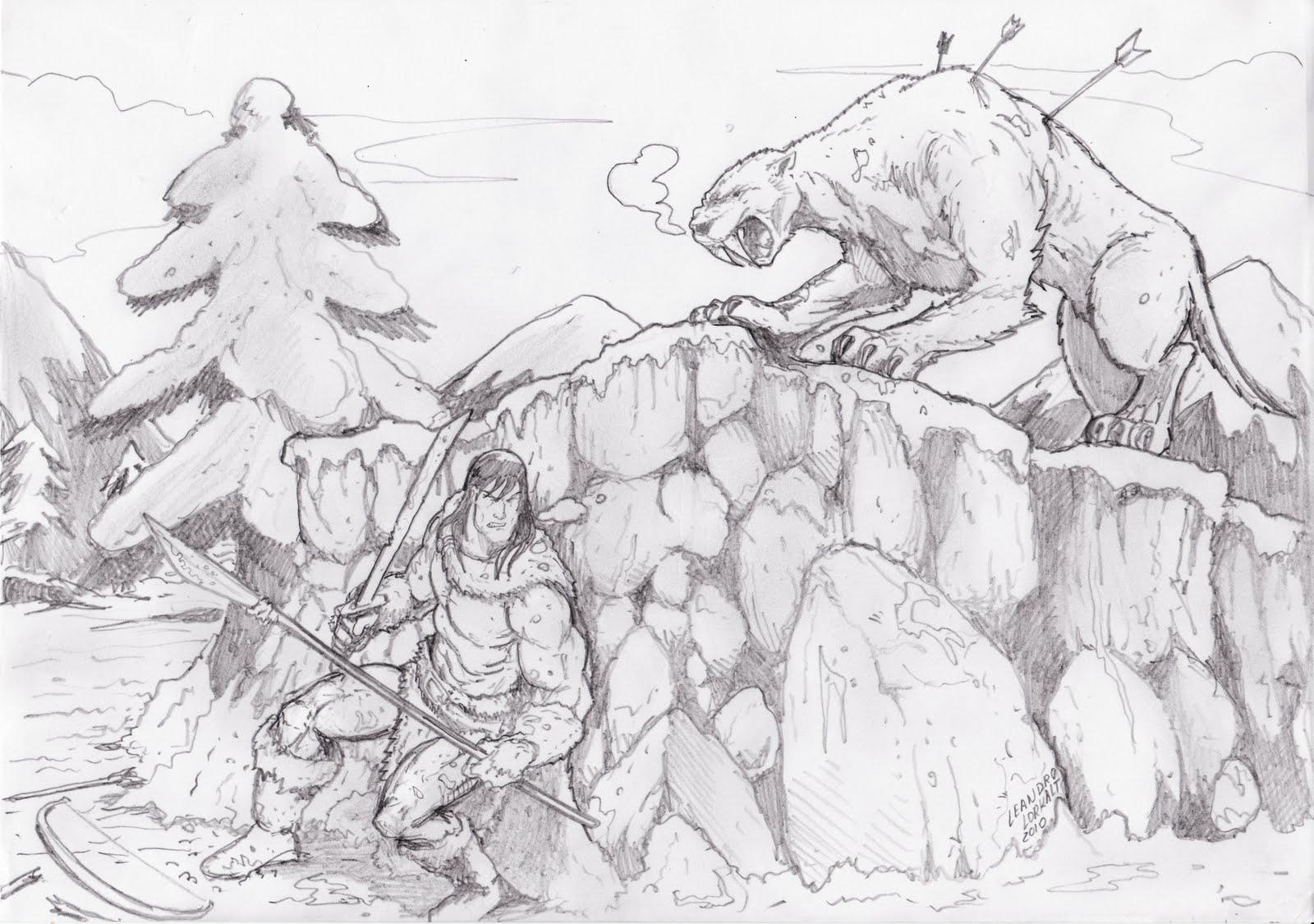 guilda de desenhistas bárbaro vs dentes de sabre