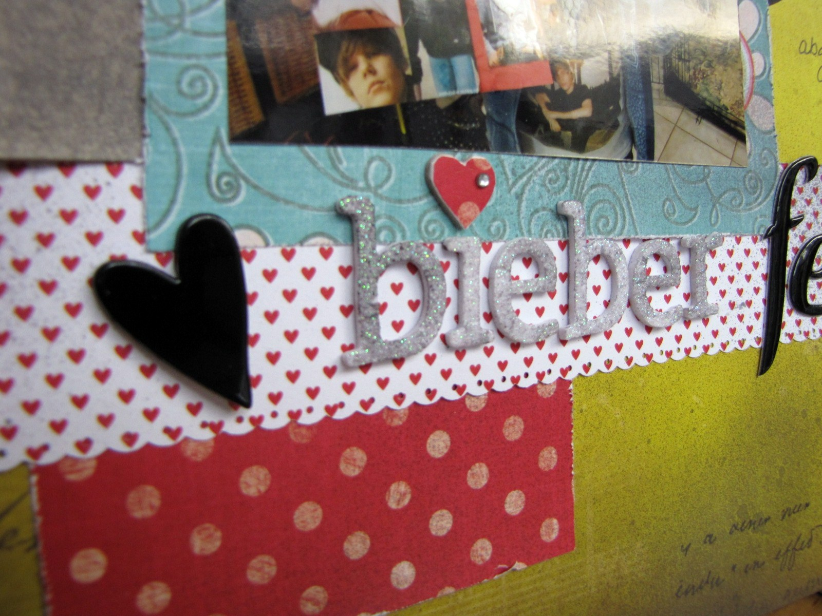 Justin bieber scrapbook ideas - I Used The January Kit From Scrapbook Circle Again Added Some Tattered Angel Mist A Few Brads And Chipboard Pieces I Loved This Yellow Green Paper