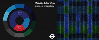 Carlota pomegranate for London underground moquette