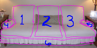 Sofa / Couch Cover Slipcover 3 Pc. Set = Sofa + Loveseat + Chair