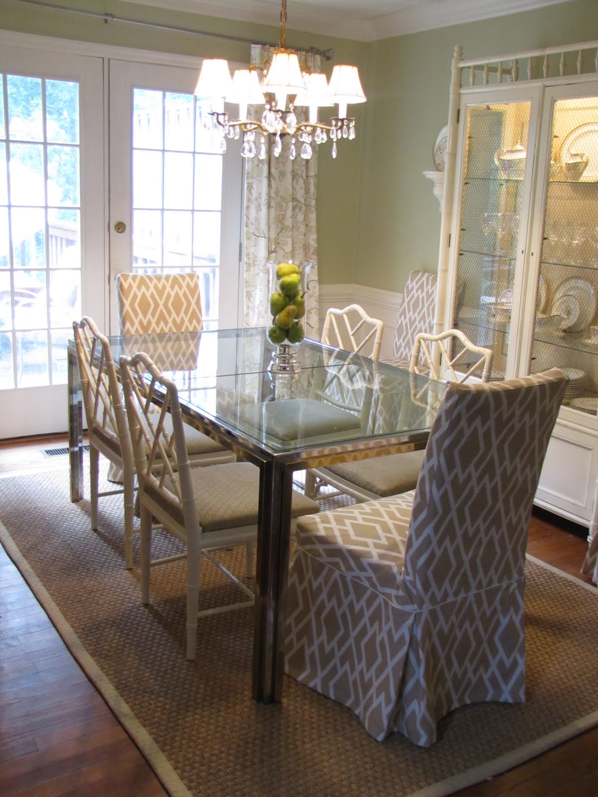 Dining room slipcover chairs