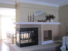 DIY 3-Sided Mantle and Spray Painted Fireplace Surround