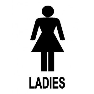 Mother of 1 princess and 2 princes ladies this one 39 s for for Ladies bathroom sign