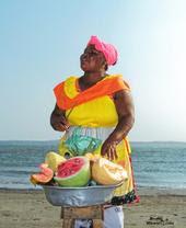 Palenquera: Ensalada de fruta