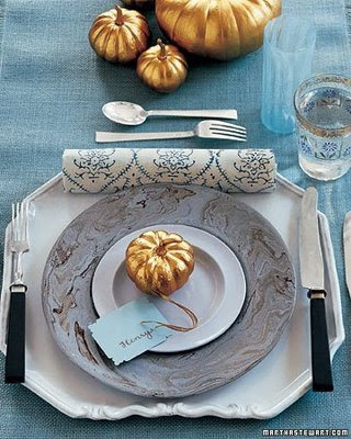 Thought id share some ideas for tables for thanksgiving from martha