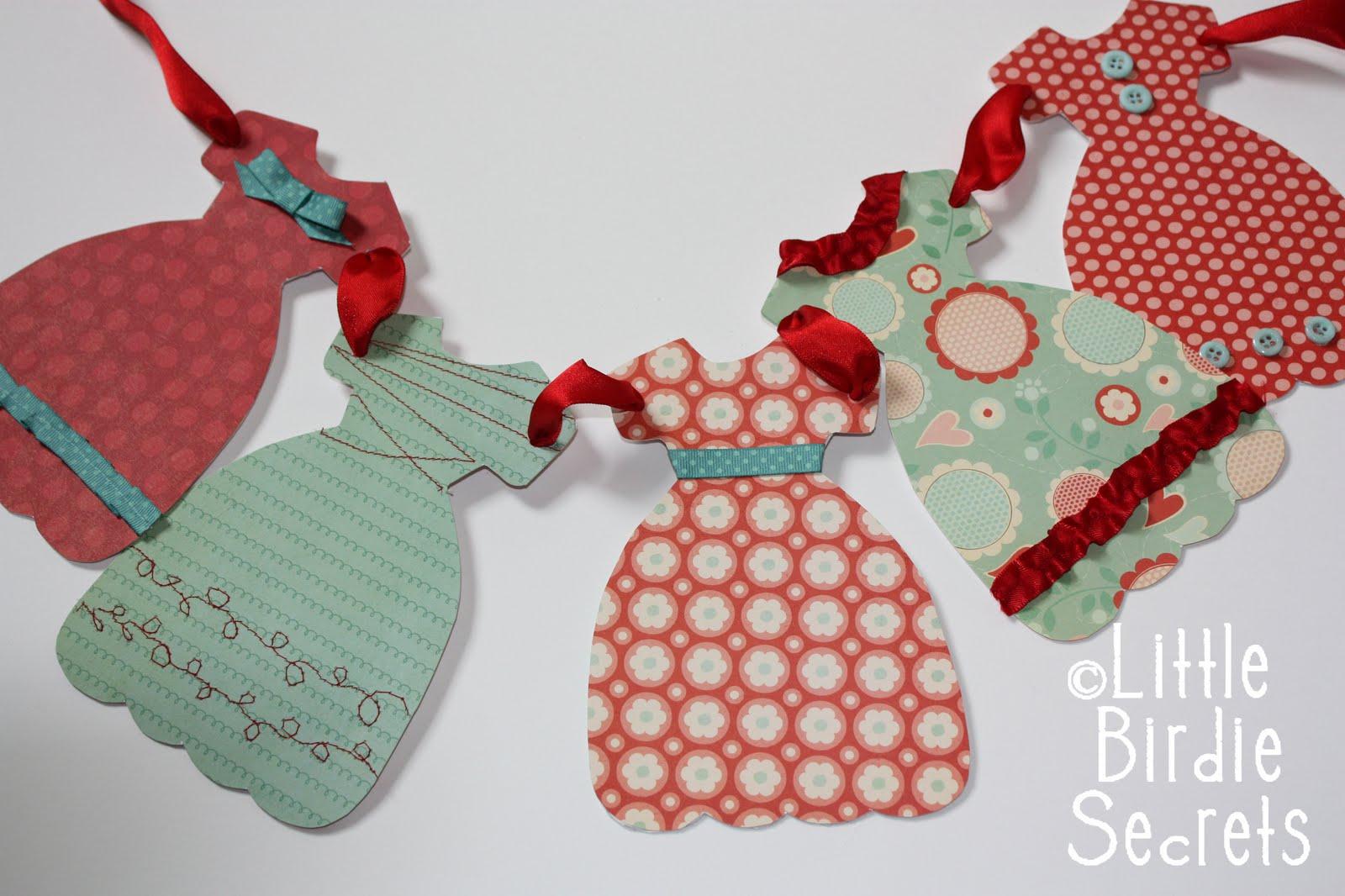 Dress Paper Garland Template