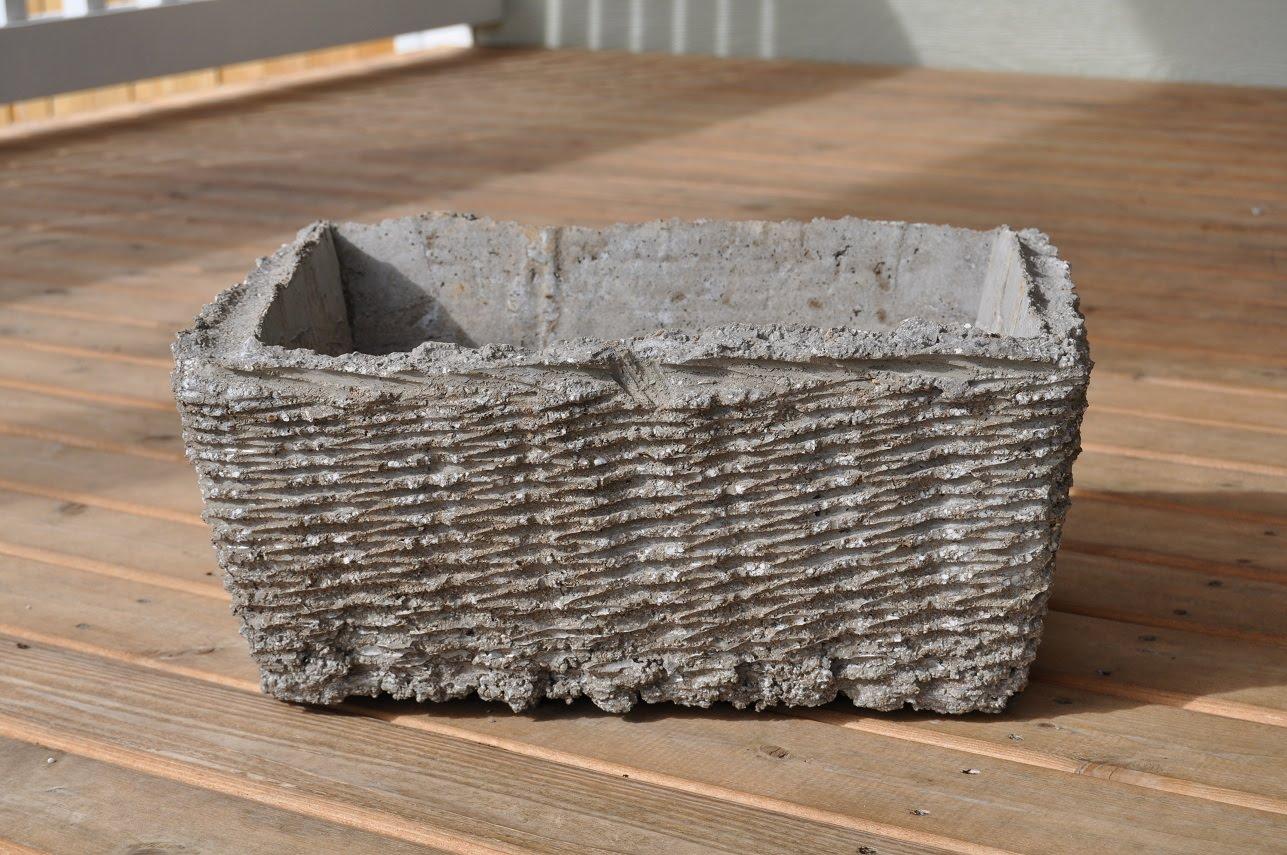 Handmade flower pot little birdie secrets for Make your own cement