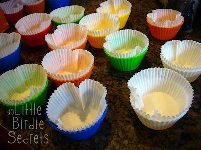 Bath Bomb Cupcakes Prep