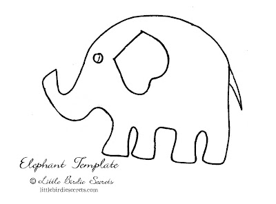 Obsessed image pertaining to printable elephant template