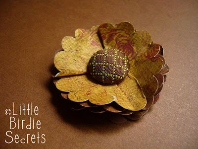 recycling paper: fall flower tag tutorial