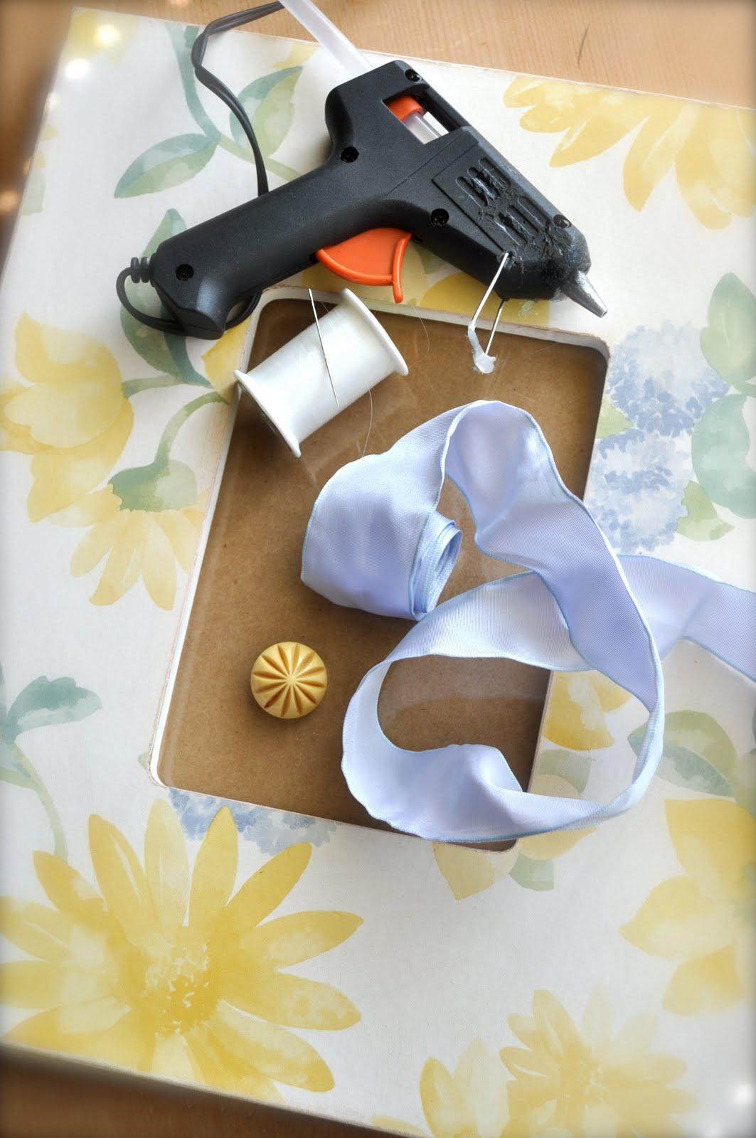 ribbon embellished picture frames | Little Birdie Secrets