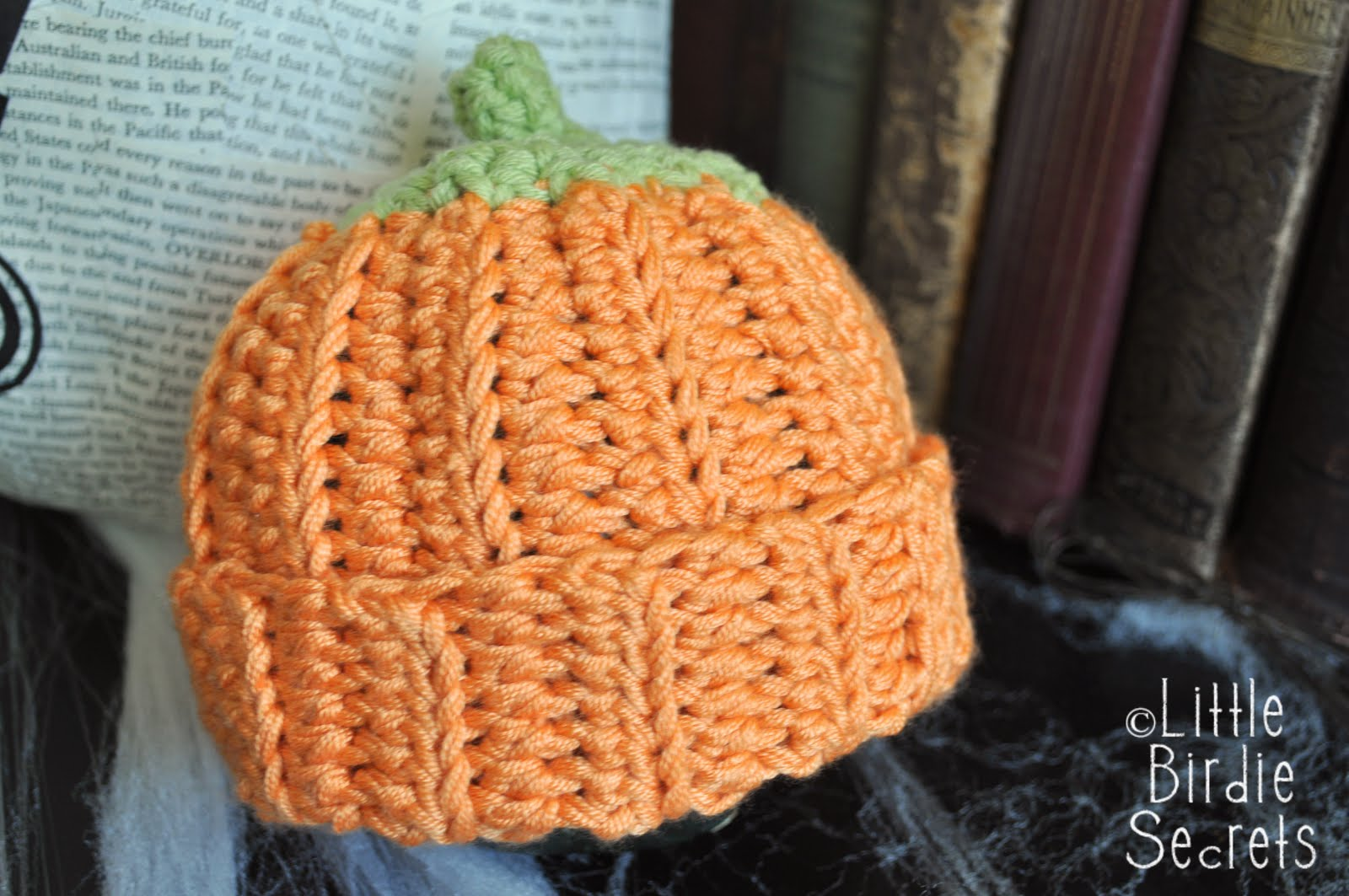 Pumpkin Hat Crochet Pattern by skiptomyloop on Etsy