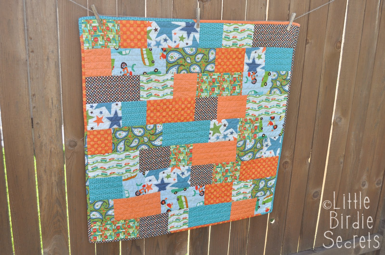 Easy Quilt Patterns For Baby : quick and easy baby quilt Little Birdie Secrets