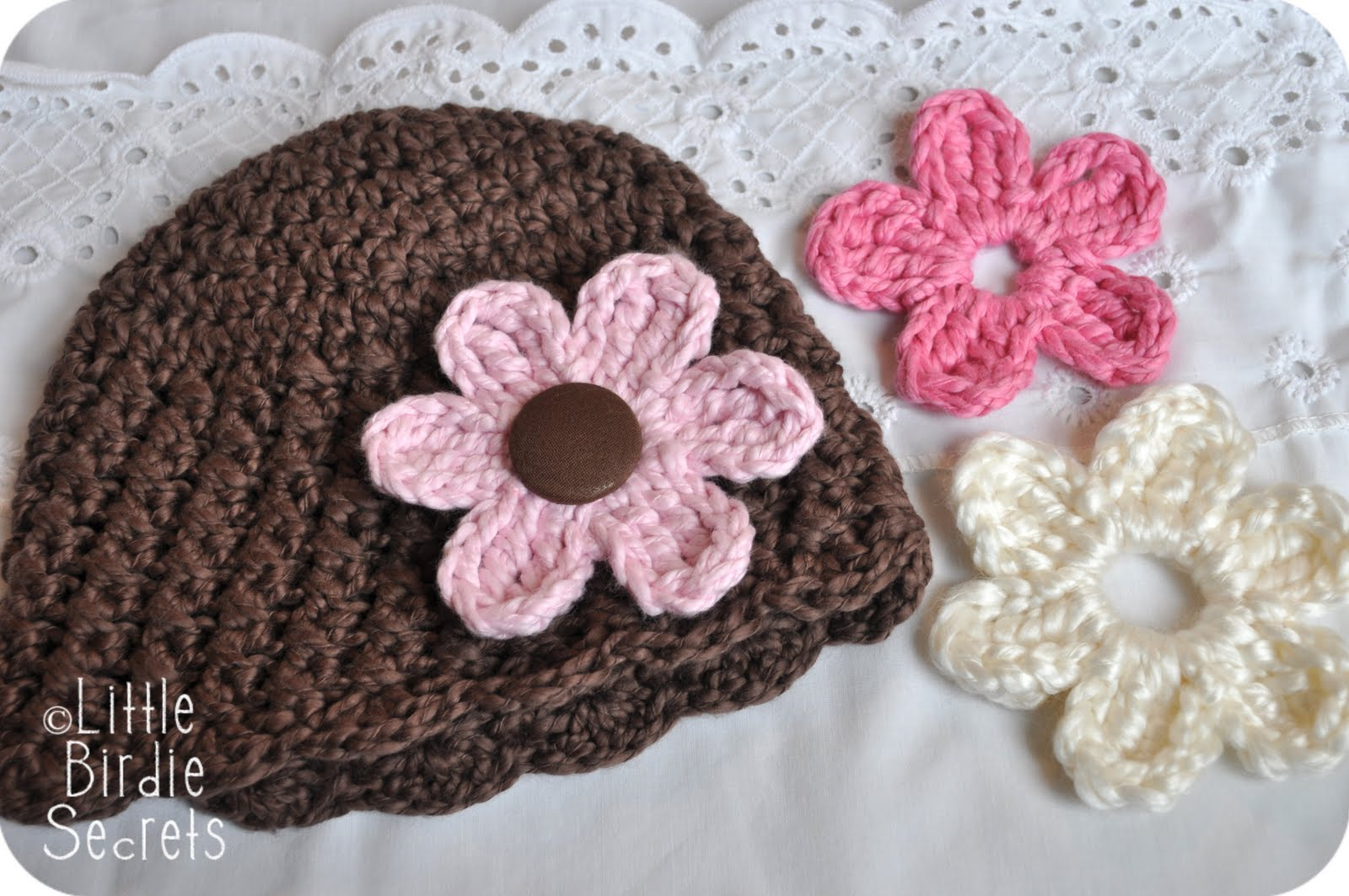 Crochet Hat Patterns Flowers : new baby hat and bootie patterns in the shop {plus a free ...