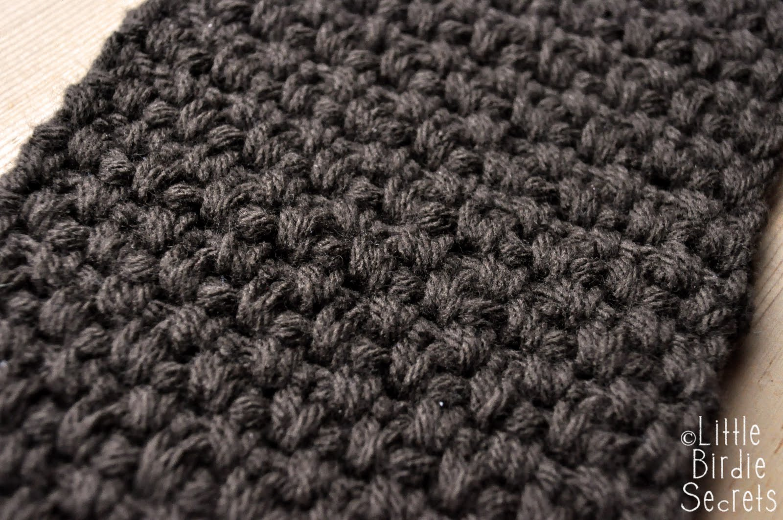 Crochet Stitches Moss Stitch : Rows 2 - 56: Continue moss st: Sk 1st sc, *sc in ch-1 sp, ch 1, sk ...