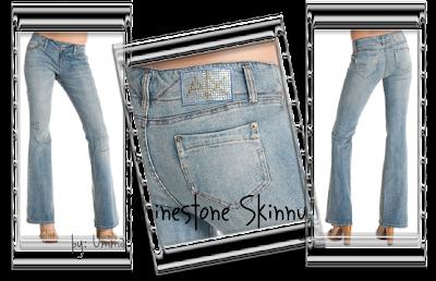 Armani Exchange Rhinestone Skinny Jeans